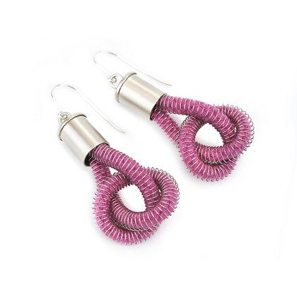 Anna Earrings Fushia