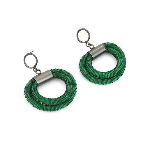 Orly Earrings Green Dark