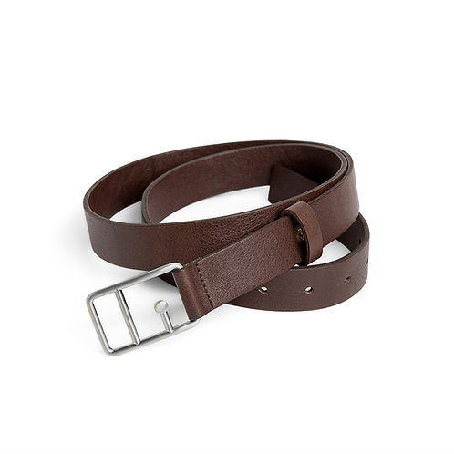 Sophie Leather Belt Brown & Silver