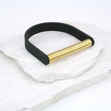 Selena Bracelet Black & Gold