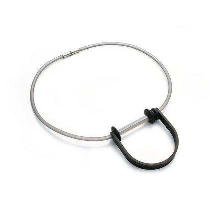 Sian  Necklace Silver & Black