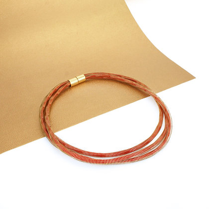 Jean Necklace Golden Red