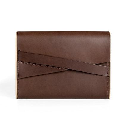 Shira Clutch Bag Brown