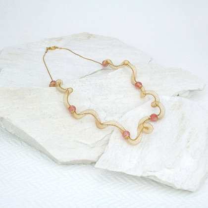 Curly Necklace Gold