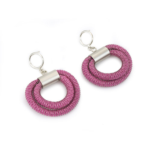 Orly Earrings Fushia