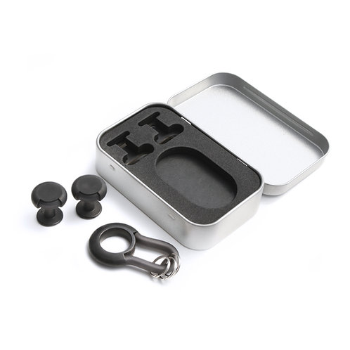 Nevil Key-Ring & Cufflinks Kit Black