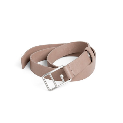 Sophie Leather Belt Mink& Silver