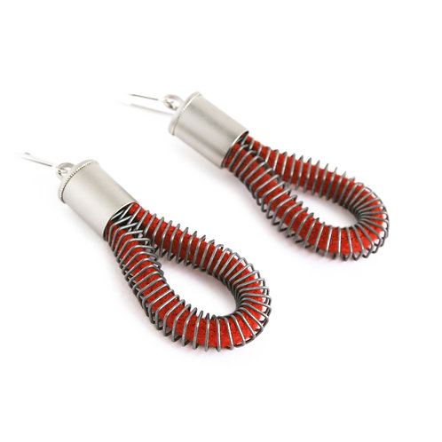 Riley Earrings Red