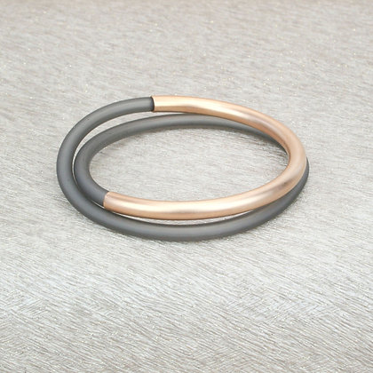 Lucy Bracelet Rose Gold & Grey