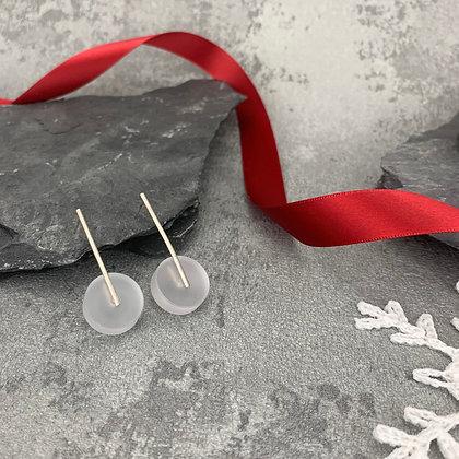 Kasia Small Earrings Silver & Frost