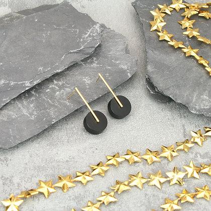 Kasia Small Earrings Gold & Black