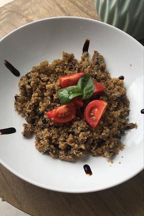 recette rizotto de quinoa aux champignons