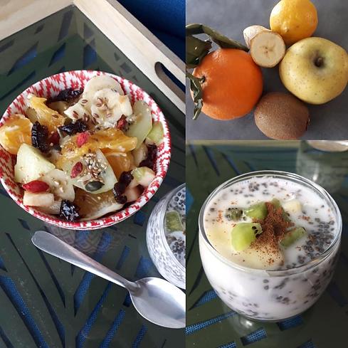 pudding graines de chia et fruits