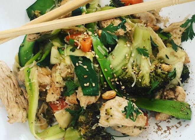 wok poulet légumes recettes