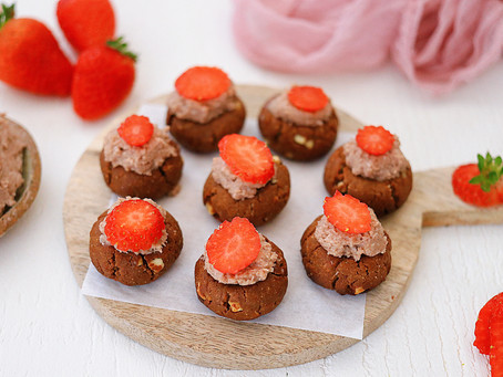 Vanilla Chocolate Strawberry Bites
