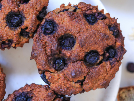 Blueberry Flax Oat Muffins