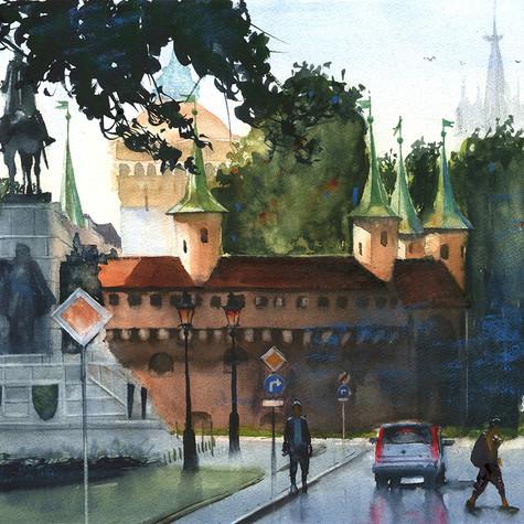 Kraków - widok na Plac Jana Matejki