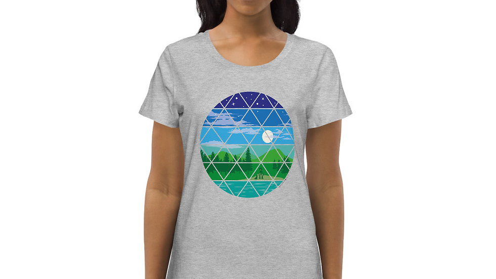 What a world we live in... Women's fitted eco tee