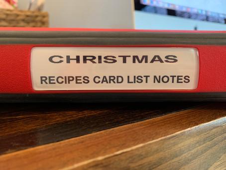 Holiday Organizing: Making A Christmas Binder