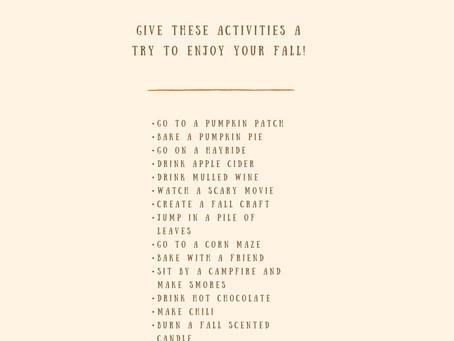 A Fun Fall Bucket List!