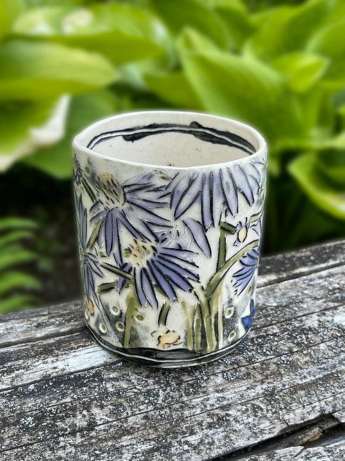 Purple Corn Flower Cup