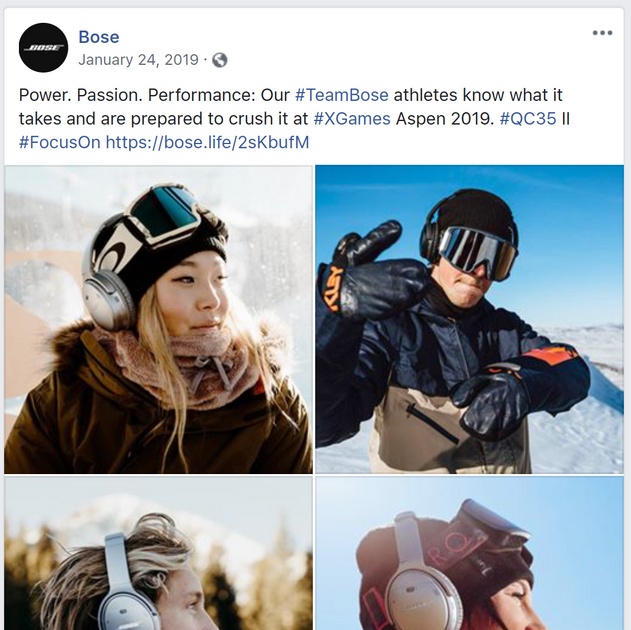 Bose Social Media Influencers & Partnerships—#TeamBose