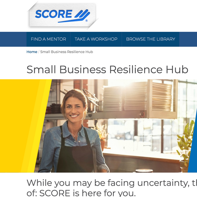 SCORE Small Business Resilience Hub