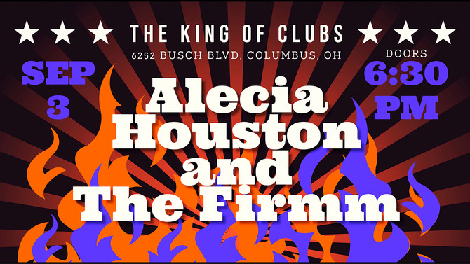 Myke Rock guests w/ Alecia Houston & The Firmm, Open for national act The Ultimate Doors: FRI SEP 3