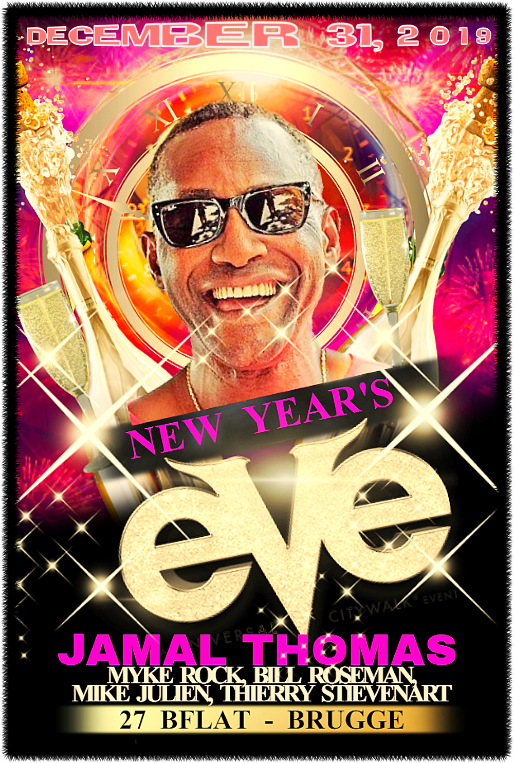 Jamal Thomas New Year's Eve with Myke Rock & More at 27Bflat in in Brugge!