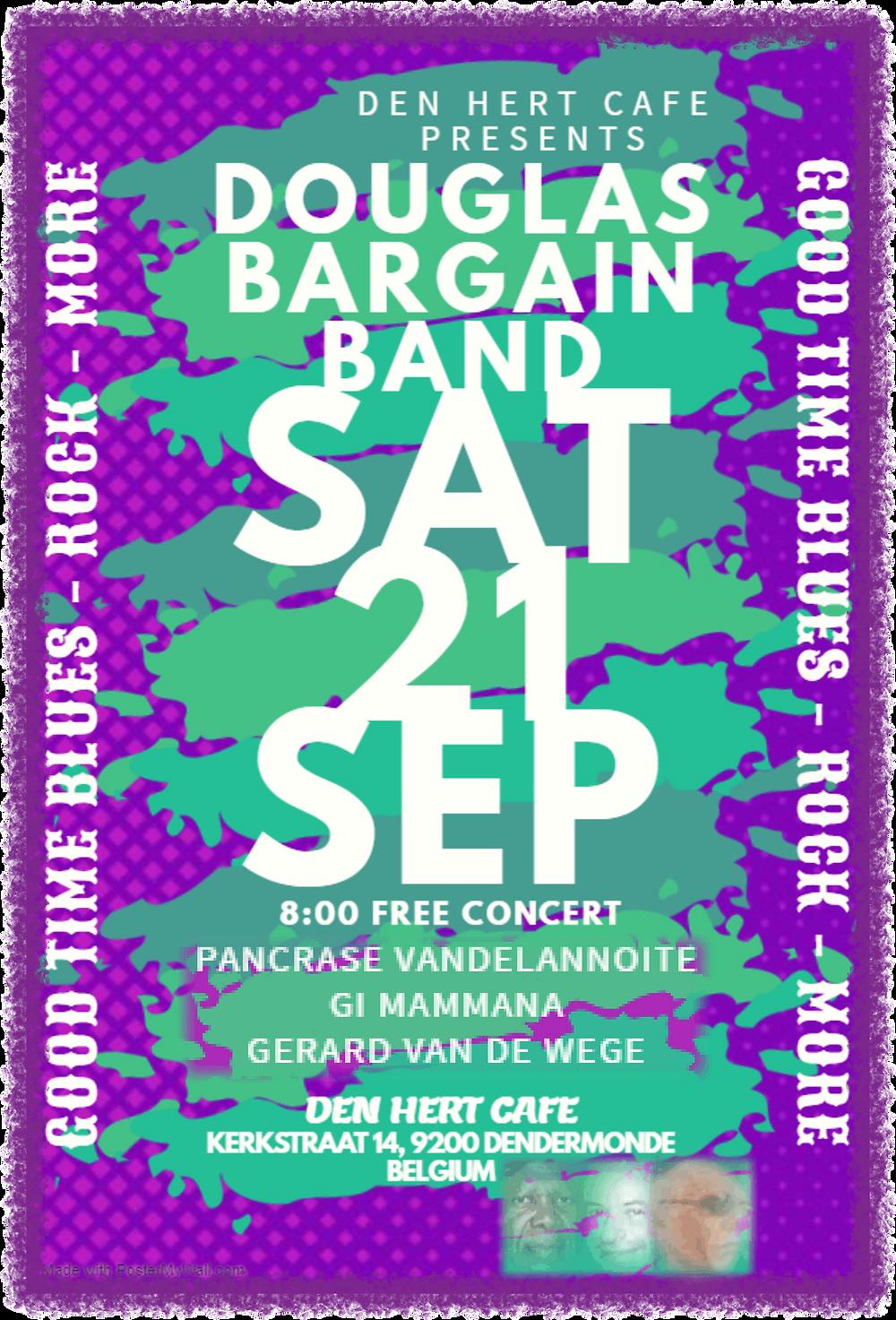 Pancrase, Myke & Gi Play Den Hert Cafe Saturday, September 21, 2019, a free Concert in Belgium!