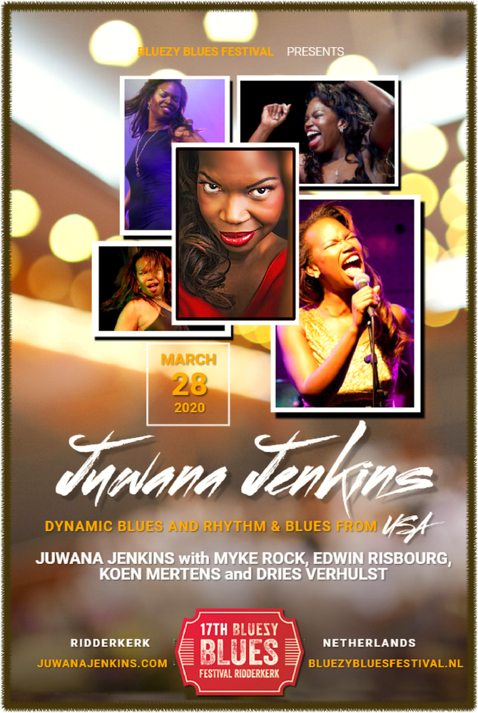 Juwana Jenkins (USA/Prague) brings her Powerful show to 17th Bluezy Blues Festival in Netherlands 28