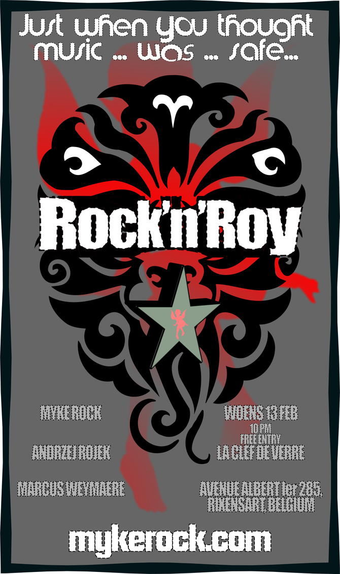 WOENS FEB 13: Rock'n'Roy - Myke Rock, Roy Andrews & Marcus Weymaere - play La Clef de Ve