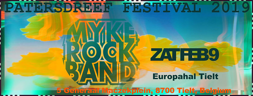 Myke Rock Band 9 February 2019 at Patersdreef Festival in Tielt, Belgium