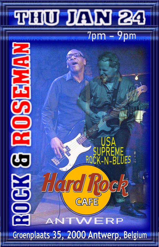 "FREE CONCERT: Rock & Roseman ""Myke Rock, Bill Roseman & Didier Feys"" play the Hard"