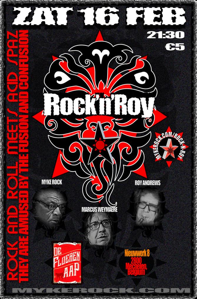 ZAT 16 Feb: Rock'n'Roy IN CONCERT at De Floeren Aap in Mechelen, Belgium!