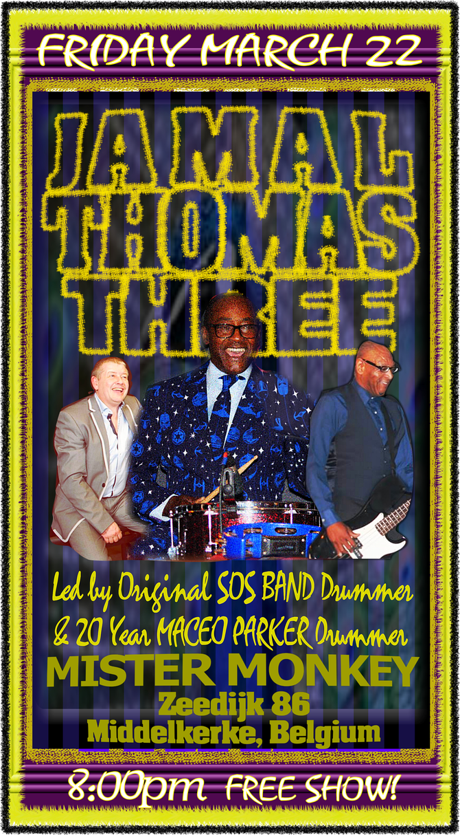 22 maart 2019: Jamal Thomas Three with Myke Rock & Eddie Alberts at Middelkerke's Mister Mon
