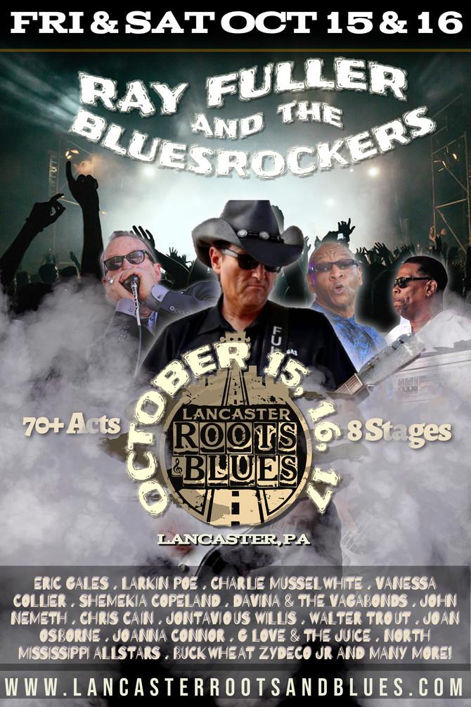 Ray Fuller, Bluesrockers (w/ Myke, TC & Doc) play Twice @ Lancaster Roots & Blues Fest, Lancaster PA