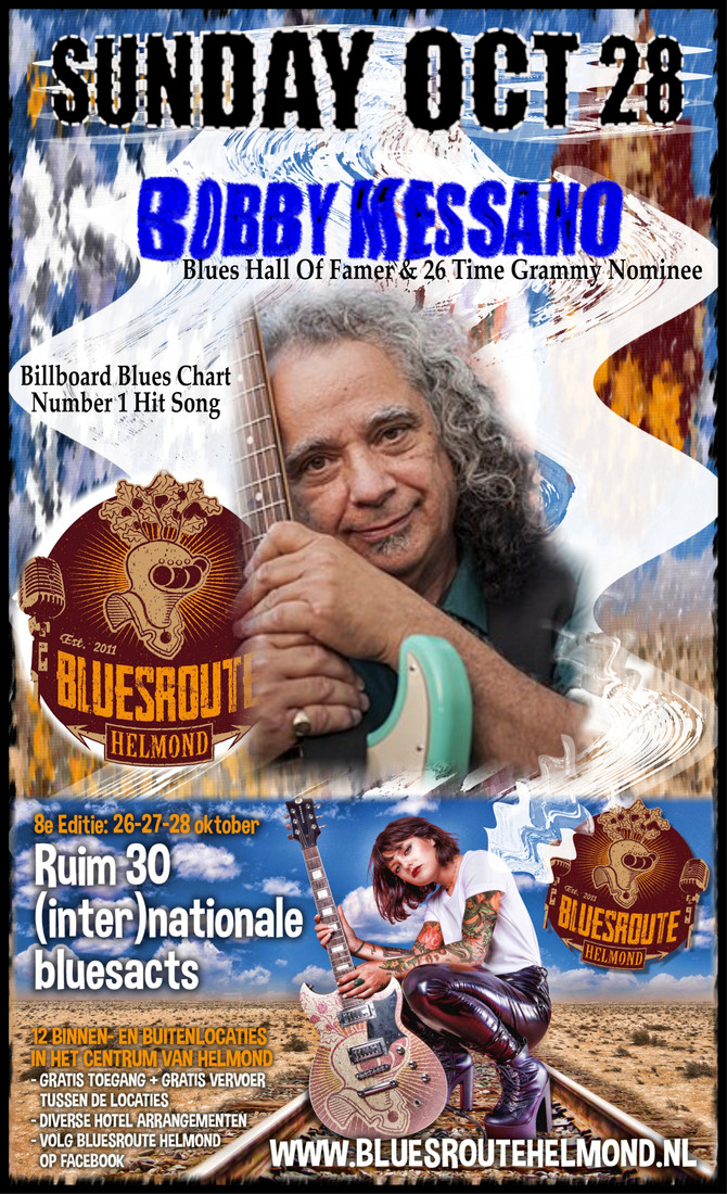 Sunday, October 28: Bobby Messano Europe Tour -with Myke Rock & Koen Mertens- plays Bluesroute 2