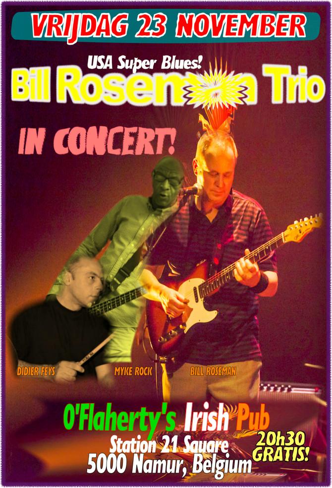Friday, November 23: Bill Roseman Trio w/ Myke Rock & Didier Feys give a Gratis Concert @ O'