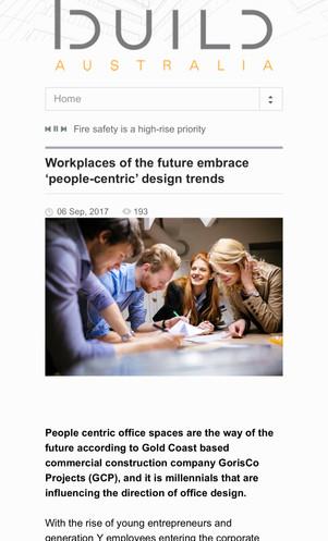 Build Australia | GorisCo Feature Article on Future of Office Design