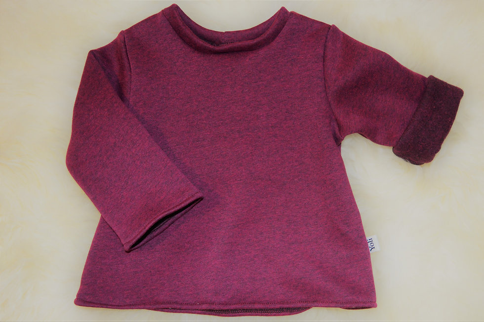 Kuscheliger Pullover bordeaux-rot