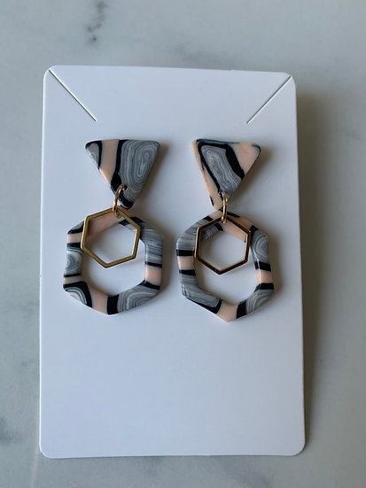 Clay Marbled Earrings