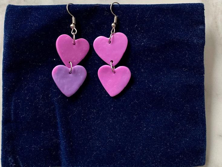 Clay Heart Earrings
