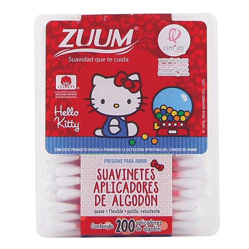 Zuum hello kitty aplicadores caja 200 pzas.