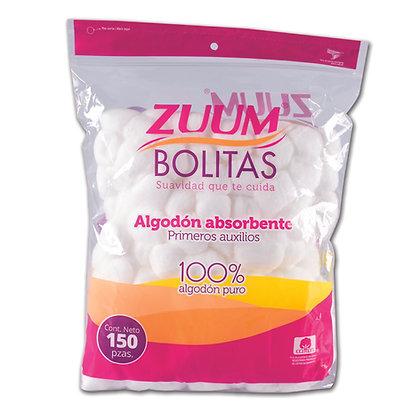 Zuum bolitas blancas 150 pzas. + gel antibacterial klin 60 ml. gratis