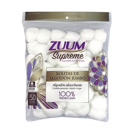 Zuum Supreme bolitas blancas 50 pzas.