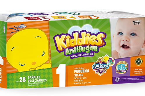 Pañales Kiddies talla1 (Recién Nacido)