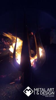 Impact fire pit