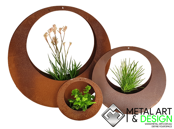 Circle hanging planter
