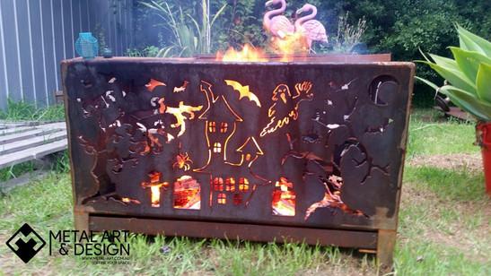 Custom rectangle fire pit